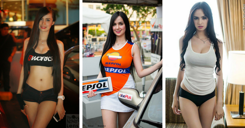The Hottest Event Models Of The Manila International Auto Show - Car show models photos