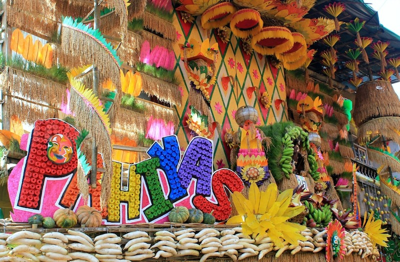 Grandiose display around town during Pahiyas Festival. Photo credits to Primer.